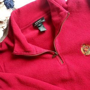 Ralph Lauren red fleece quarter zip 1x